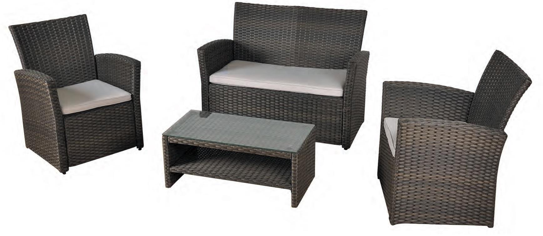 Set sofa terraza economico rattan oliver for Muebles de terraza rattan