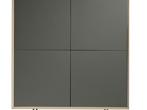 Aparador cubo Caspio moka brillo gris PR-450