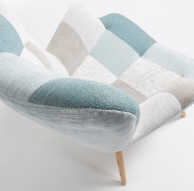 Butaca grant patchwork azul