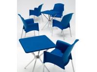 Mesa polipropileno Jimmy azul 70x70