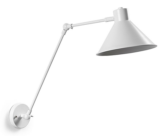 Lampara aplique metal blanco New Antic