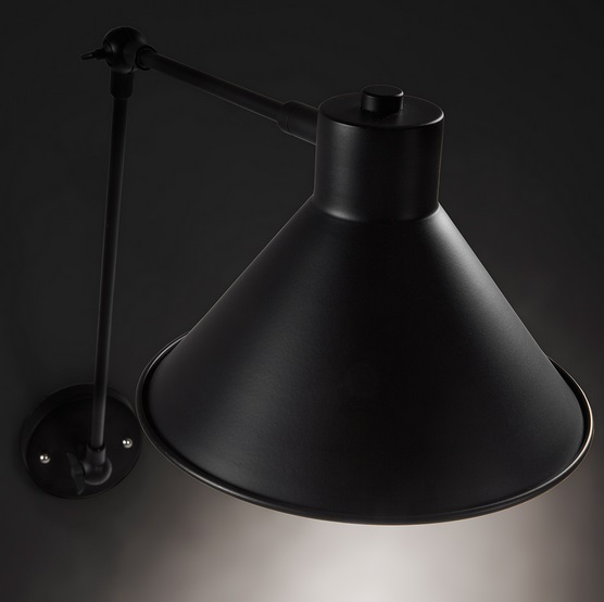Lampara aplique metal negro New Antic