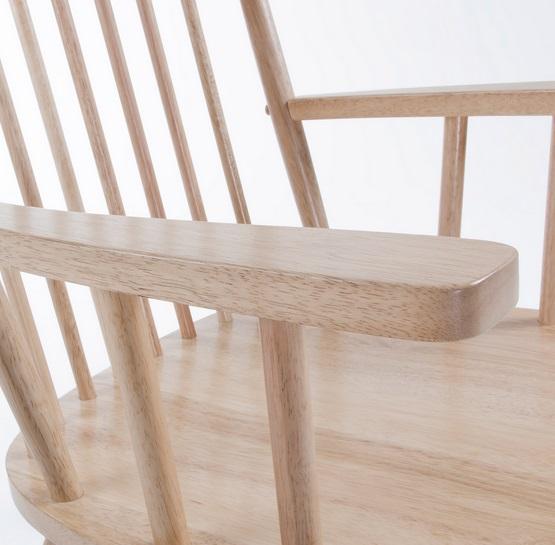 Mecedora windsor madera natural