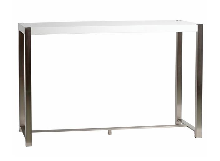 Mesa alta lacado blanco acero 160x60 Jovana
