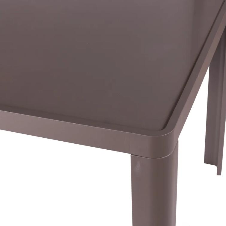 Mesa de comedor Stella aluminio chateau 90x90 cm