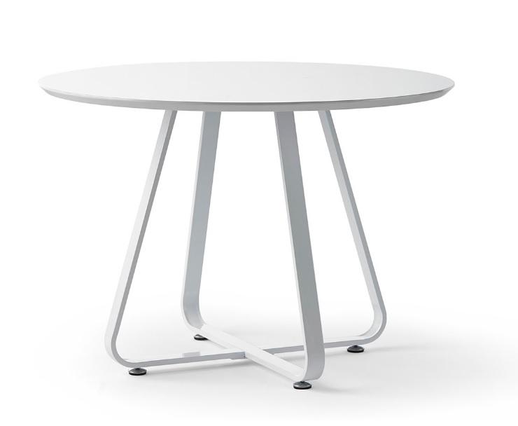 Mesa de comedor redonda blanco brillo DT-13