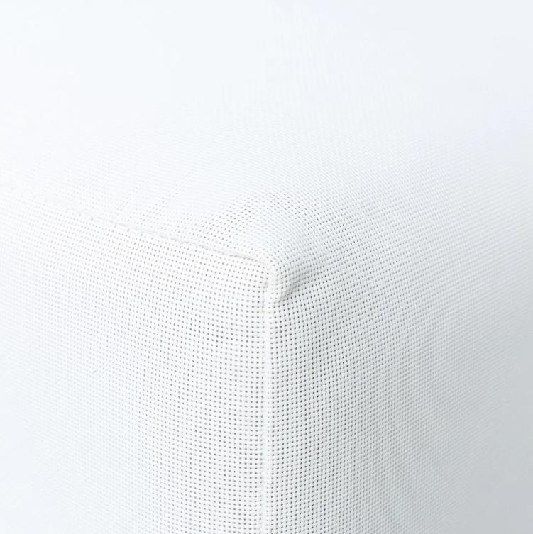 Puf IO aluminio blanco