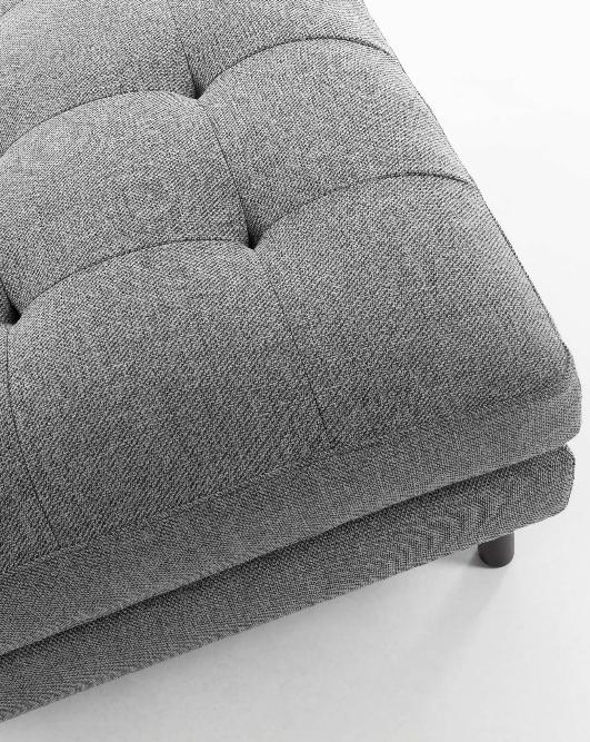 Puf Matilda gris oscuro 80x80 cm