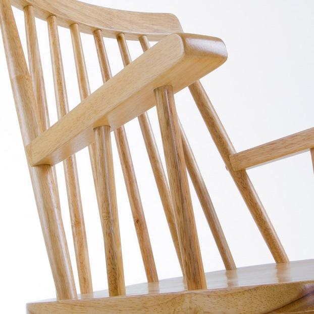 Silla windsor brazos madera natural