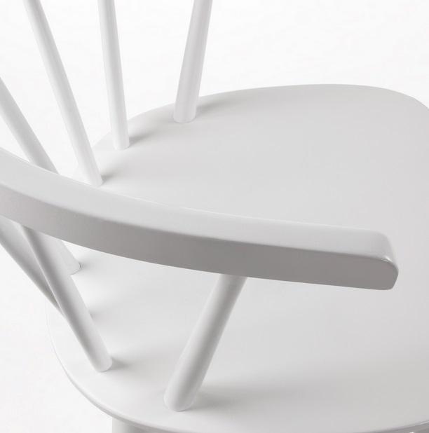 Silla windsor curva madera blanco
