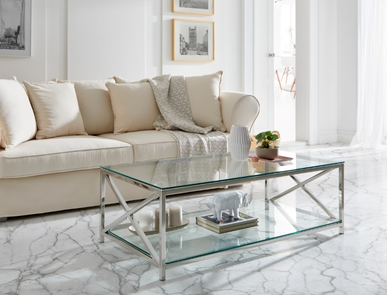 Sofa Mozart tela beige 4 plazas