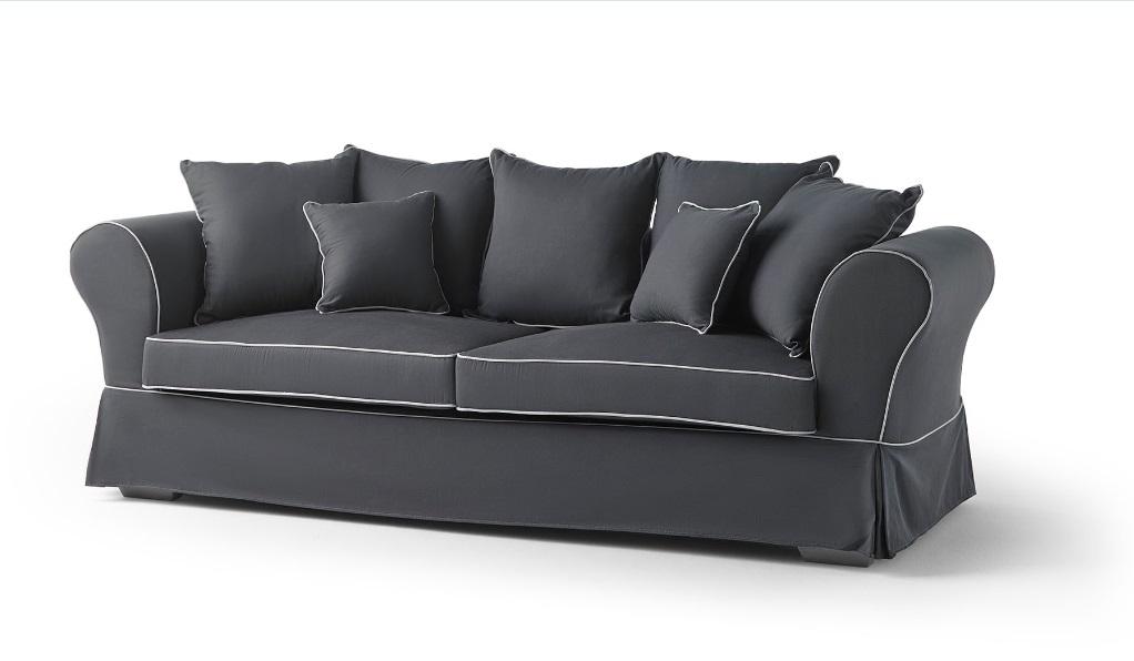 Sofa Mozart tela gris 3 plazas