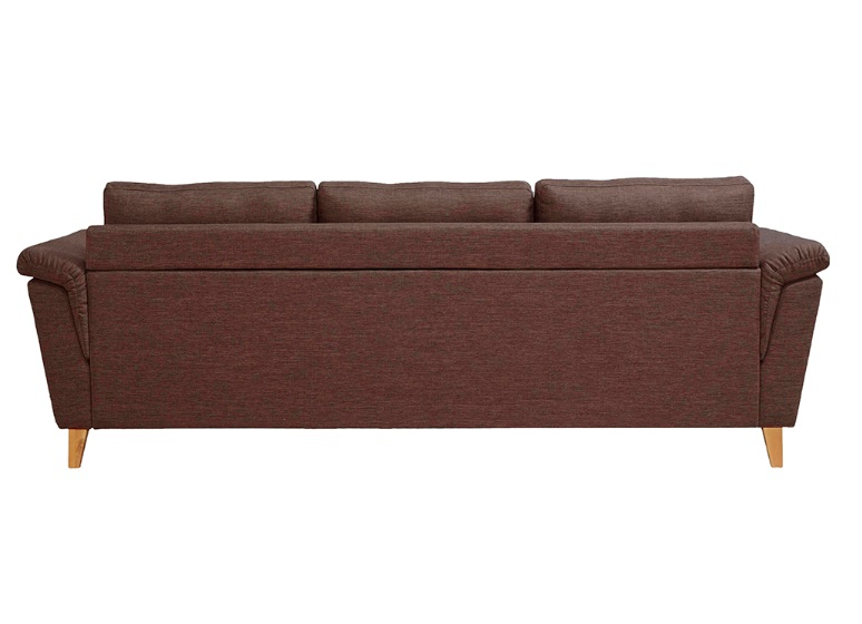 Sofa nordico vintage reposapies tela marron