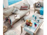Sofa terraza 3 plazas acacia cuerda Tango