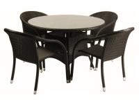 Mesa rattan negro Remo