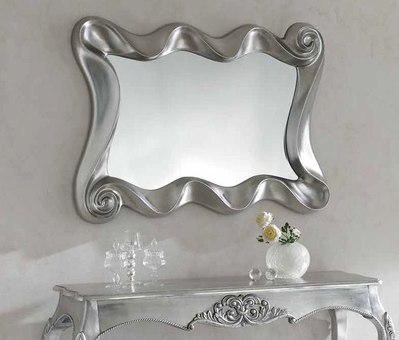 Espejo fantasia plata 115x84 cm pu 183 b dugar home www - Espejos color plata ...