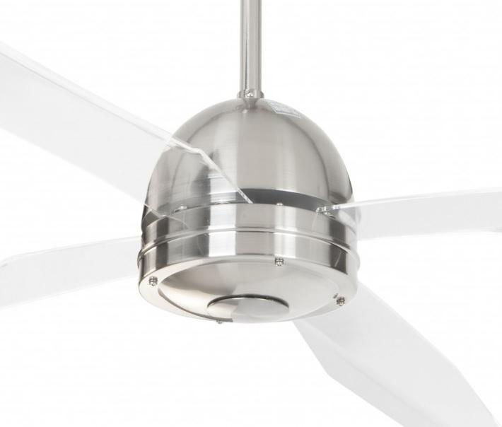 Ventilador de techo cromado palas transparentes 50992 cr - Precio de ventiladores de techo ...