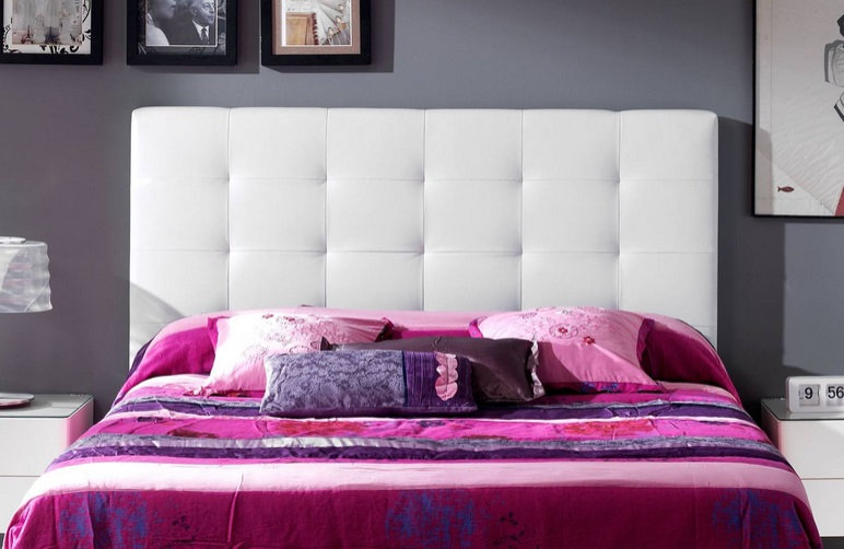 Cabecero tapizado cuadros belen - Cabecero tapizado blanco ...