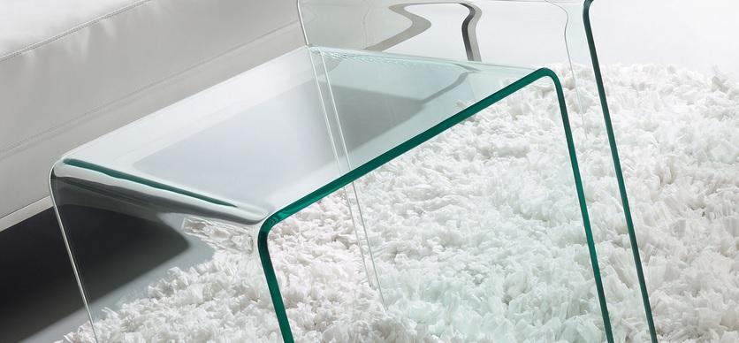 Duo mesas auxiliares nido cristal - Mesas auxiliares cristal ...