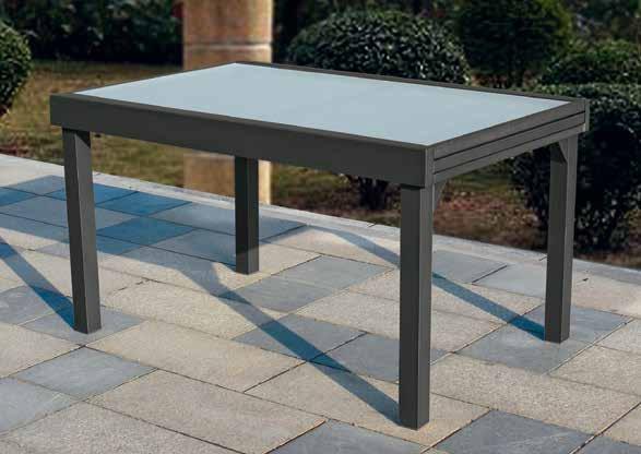 Mesa terraza y jardin aluminio extensible calpe antracita - Cortavientos de jardin ...