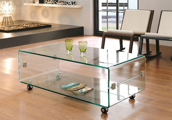 Mesa centro cristal templado 120cm for Mesa salon cristal