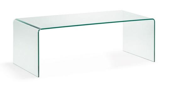 Mesa de centro cristal templado transparente 110x50 cm - Mesas cristal templado ...
