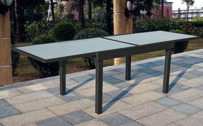 Mesa terraza y jardin aluminio extensible calpe antracita 270 - Mesas de terraza ...