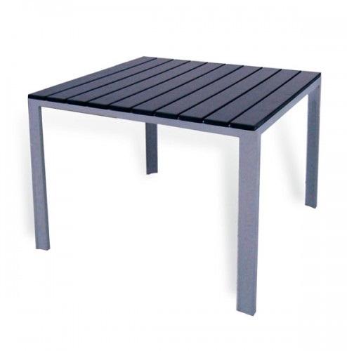 mesa aluminio lamas kind 70x70. Black Bedroom Furniture Sets. Home Design Ideas