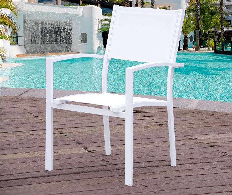Conjunto terraza y jardin aluminio blanco ibiza www for Conjuntos de jardin en aluminio