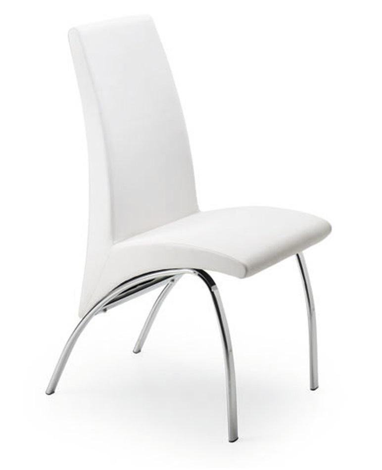 Silla de comedor blanco arco for Sillas blancas modernas para comedor