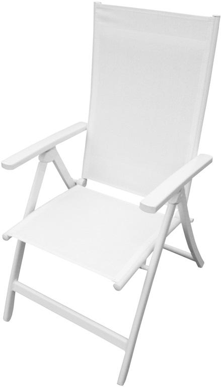 Sillon posiciones alumino blanco formentera www for Sillon reclinable blanco