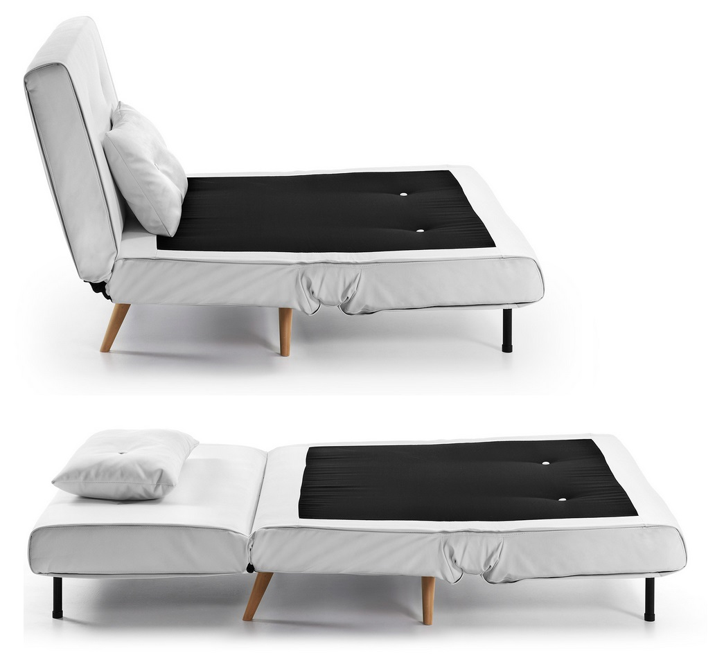 Sillon cama nordico blanco norway for Sillon cama 1 plaza nuevo
