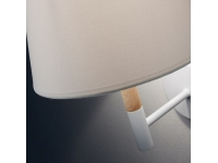 Lampara aplique nordico blanco silke