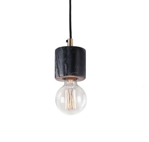 Lampara suspension marmol negro 11
