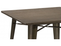 Mesa tolix antik old bronce 80x80
