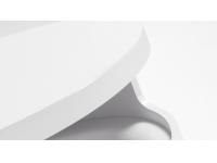 Mesa auxiliar curve blanco 40cm