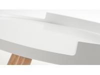 Mesa auxiliar curve natural blanco