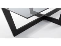 Mesa centro negro cristal fume uves