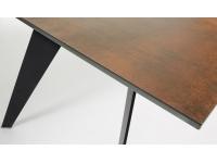 Mesa Key ceramic iron corten 180x100