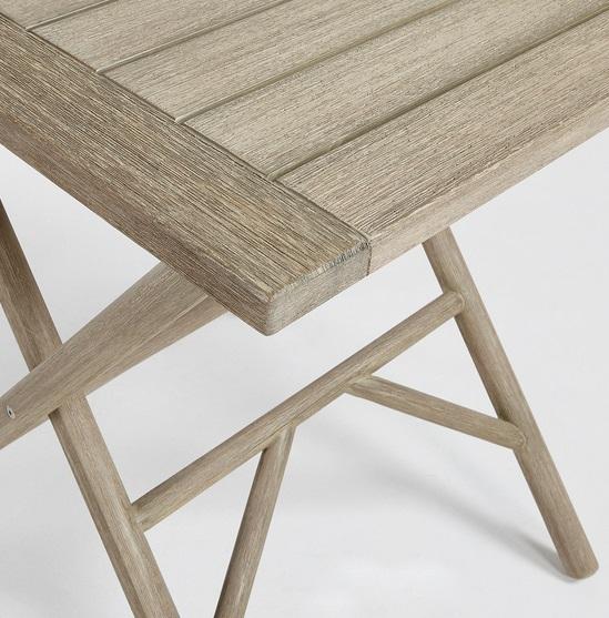 Conjunto de terraza en madera patina gris envejecido