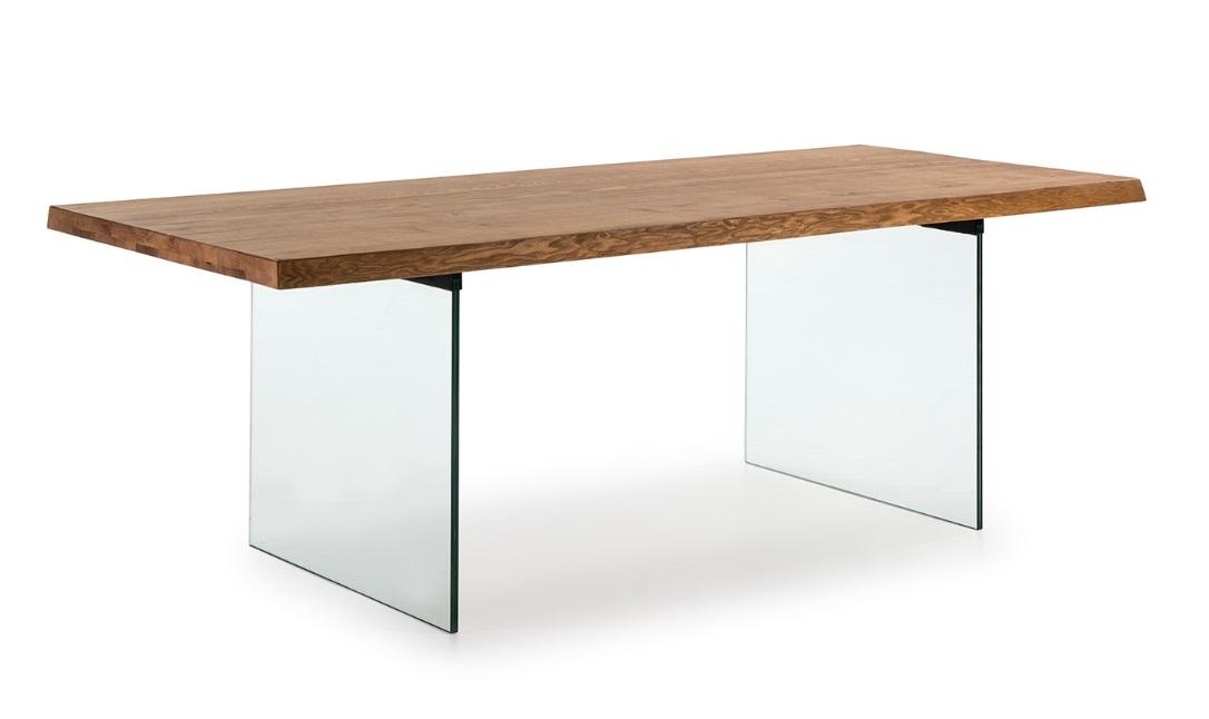 Mesa Murano fresno natural cristal 180x100