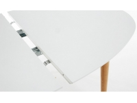 Mesa nordica oval extensible blanco mate haya 140-220x90