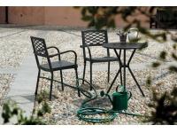 Mesa jardin hierro redonda Leo 60cm