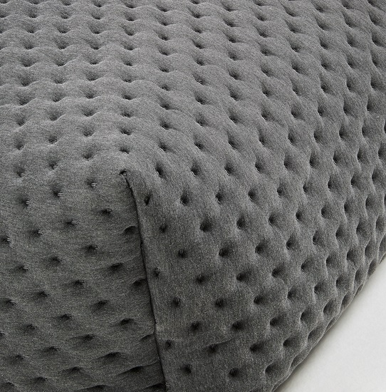 Puf tela acolchado moncel gris 60x60
