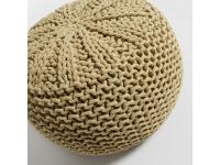 Puf tricot algodon mostaza redondo 50