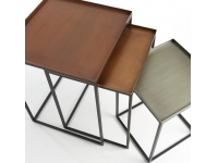Set mesas nido zinc cobre laton