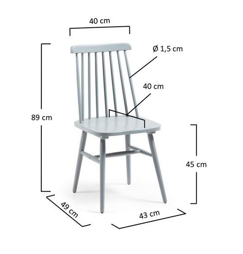 Silla windsor madera gris - Medidas silla ...