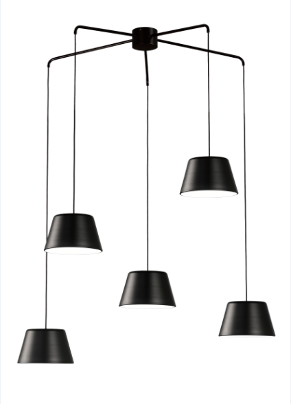Dona lampara colgante 5 luces