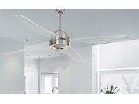 Ventilador techo cromado palas transparentes 50992 CR