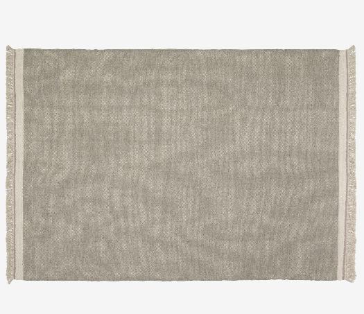 Alfombra de estilo nordico lana y algodón color gris